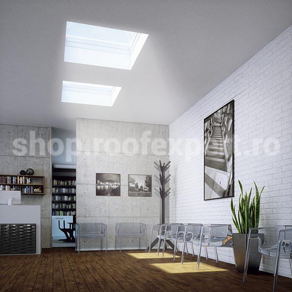 Fereastra pentru acoperis terasa FAKRO DEC cu actionare electrica